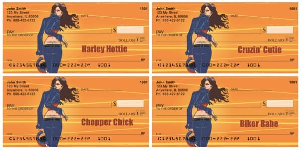 Harley Hottie Personal Bank Checks