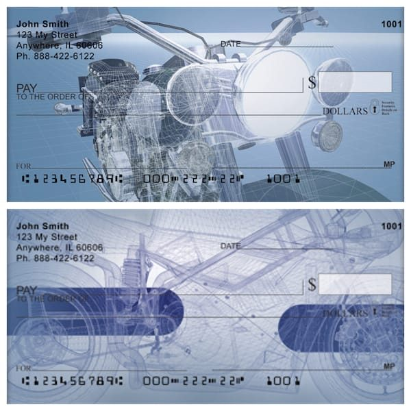Motorcycle Drawing Board Personal Checks