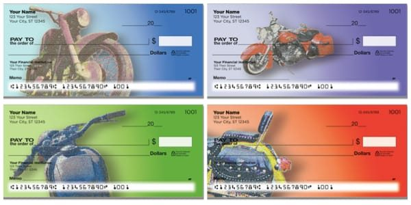 Old School Motorcycle Personal Checks