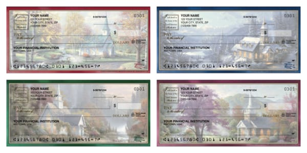 Scenic Churches by Thomas Kinkade Personal Checks