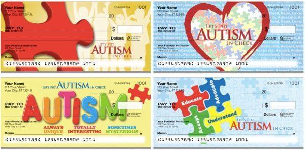 Autism Awareness Personal Checks