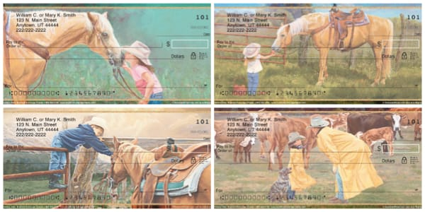 Cowboy Kids and Their Horses Personal Checks