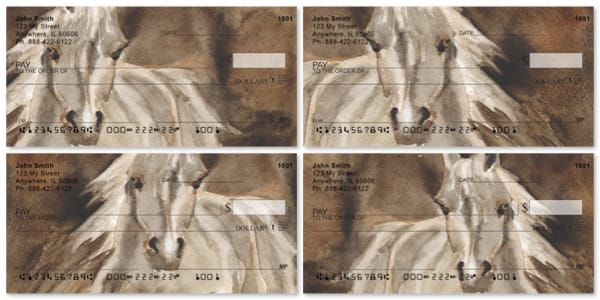 Horse Paintings Personal Checks