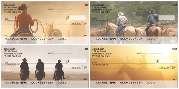 Life of a Cowboy Personal Checks
