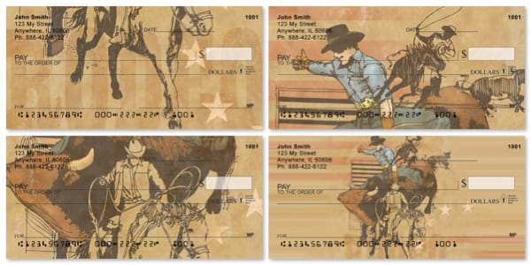 Ropes and Reins Illustrated Horse Personal Checks