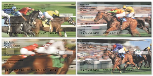 Running for the Win Horse Racing Personal Checks