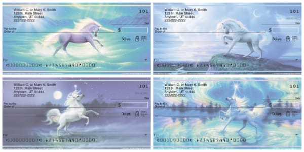 Unicorns Personal Checks