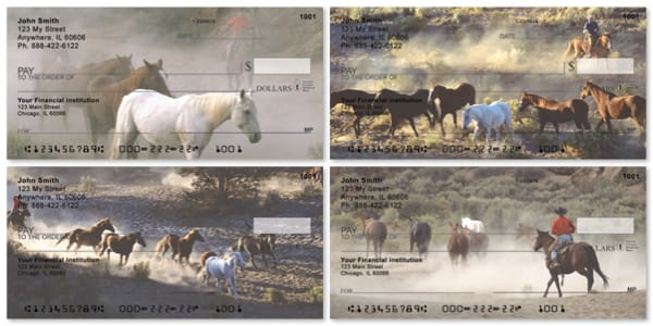 Wild Horse Round-up Personal Checks
