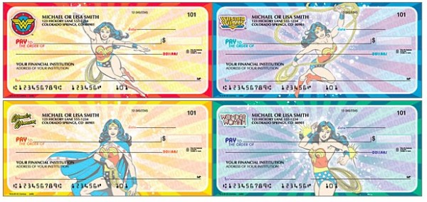 Wonder Woman Comics Checks