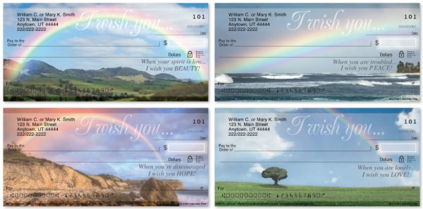 I Wish You Rainbows Personal Checks
