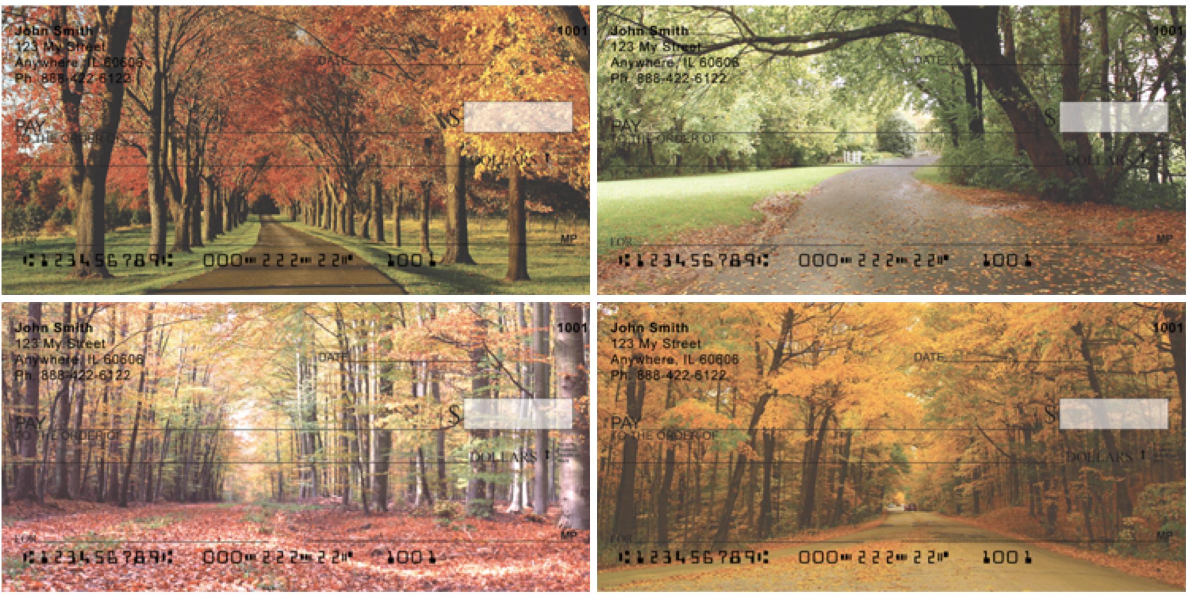 Autumn Roads Personal Checks