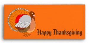 Custom Thanksgiving Envelopes