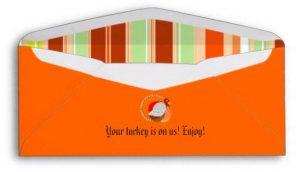 Custom Thanksgiving Gift Check Envelopes