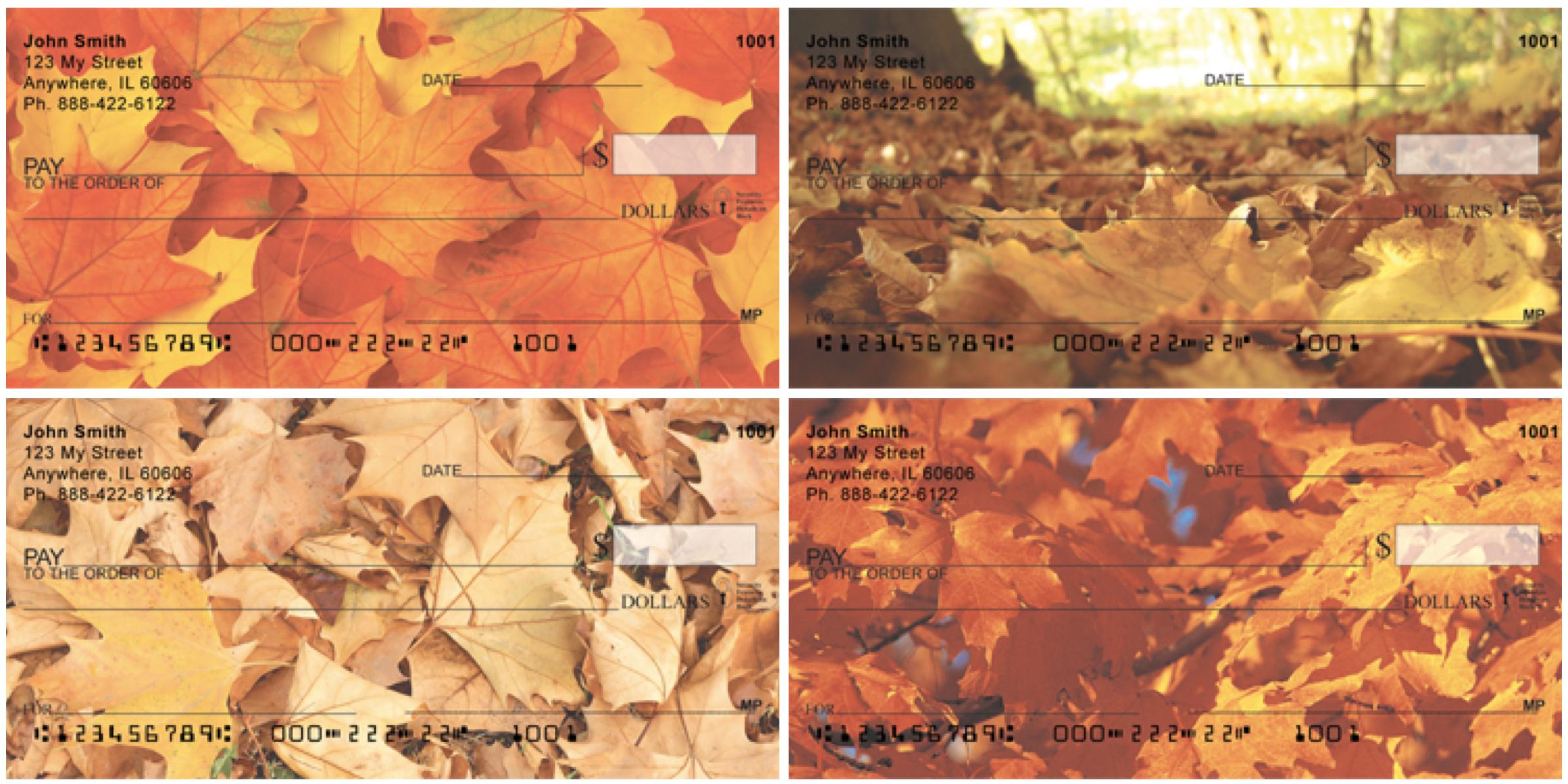 Fall Leaves Personal Checks