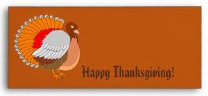 Thanksgiving Turkey Envelopes