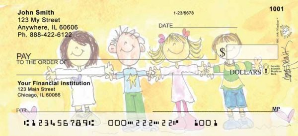Alice's Angels Personal Checks by Amy S. Petrik