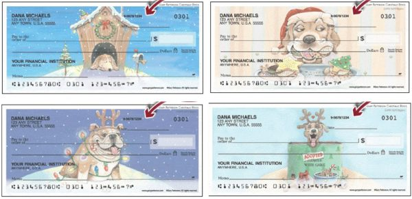 Gary Patterson Christmas Dogs Checks