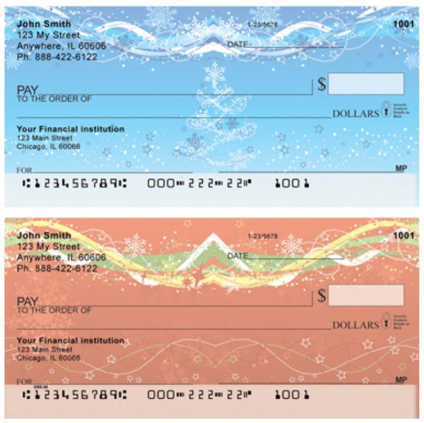 Holiday Sparkle Personal Checks