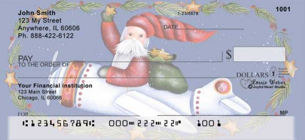 Santa's on the Way Personal Checks by Lorrie Weber