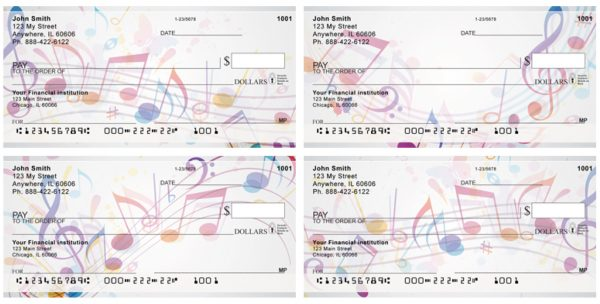 Colorful Music Notes Checks