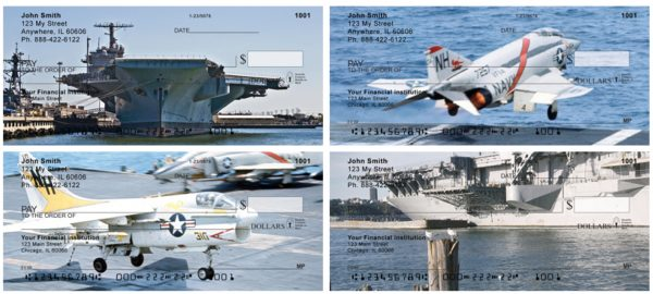 Us Navy Floating Runways Personal Checks, Military Checks