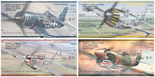 Nostalgic Fighter Planes Personal Checks