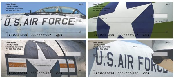 On Metal Air Force Personal Checks