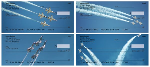 Stunt Planes In Action Air Force Checks