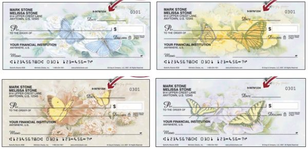 Butterfly Blooms Checks