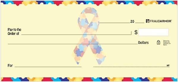 Autism Awareness Checks Personal Checks