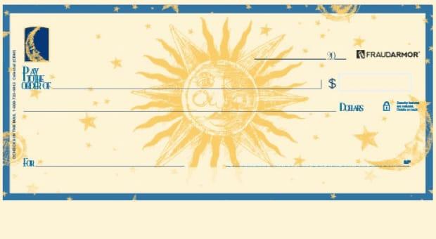 Sun Moon and Stars Celestial Checks