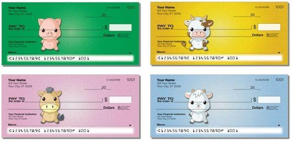 Baby Animals Personal Checks