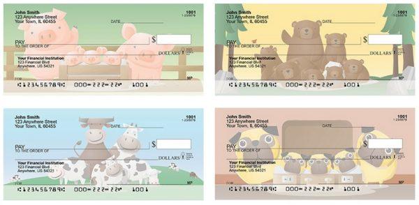 Happy Animal Families Personal Checks