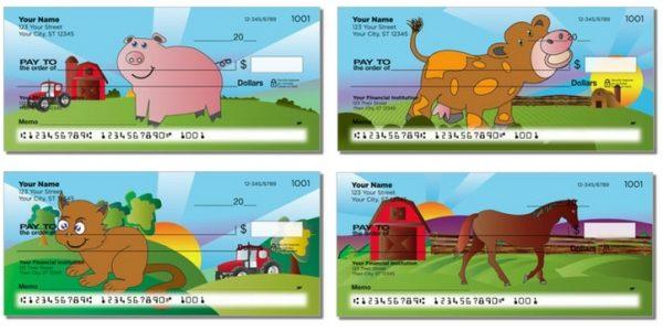 On The Farm Animals Personal Checks