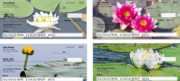 Lovely Water Lily Personal Checks