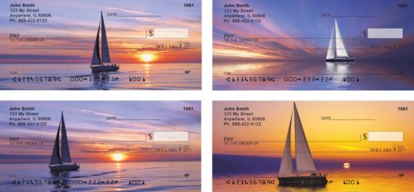 Sail Away On The Water Personal Checks