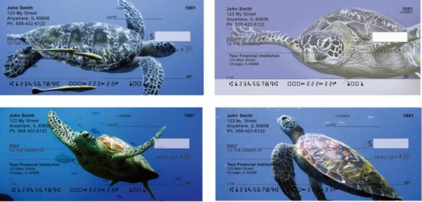 Under Water Sea Turtles Personal Checks