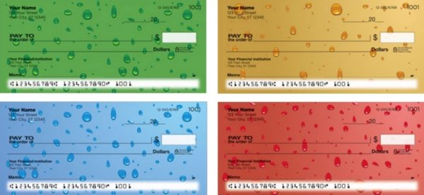 Water Drops Personal Checks