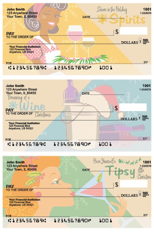 Holiday Spirits Personal Checks