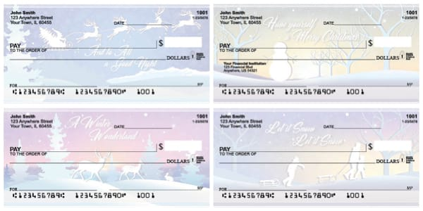 Sunsets and Snow Personal Checks