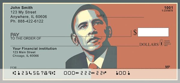President Obama Red and Blue Personal Checks