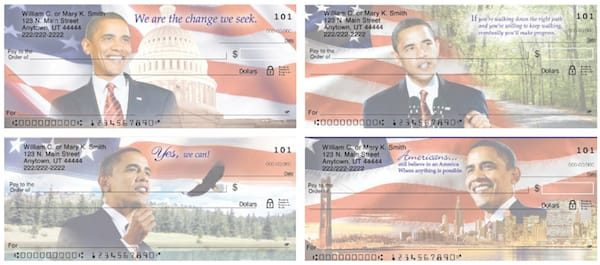 Yes, We Can! President Barak Obama Personal Checks