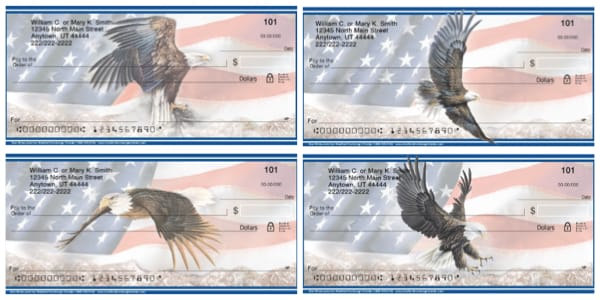 God Bless America Bald Eagle Personal Checks