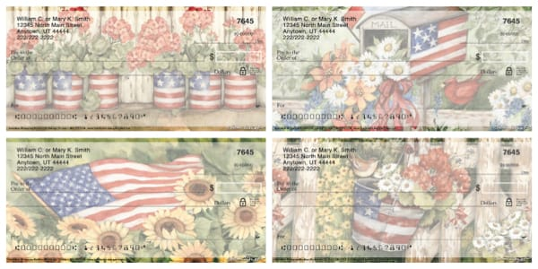 American Blossoms Personal Checks