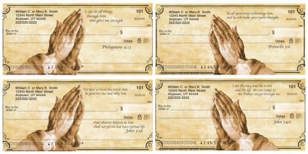Praying Hands Personal Checks