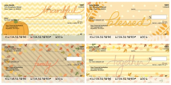 Thankful Blessings Personal Checks
