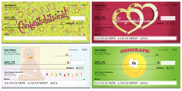 Congratulations Personal Gift Checks