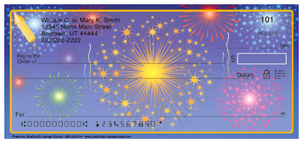New Year Fireworks Personal Checks