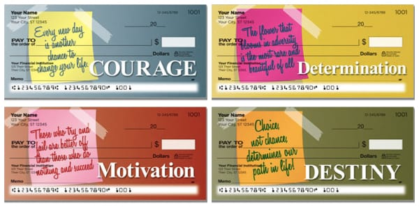 Notes and Quotes Personal Checks