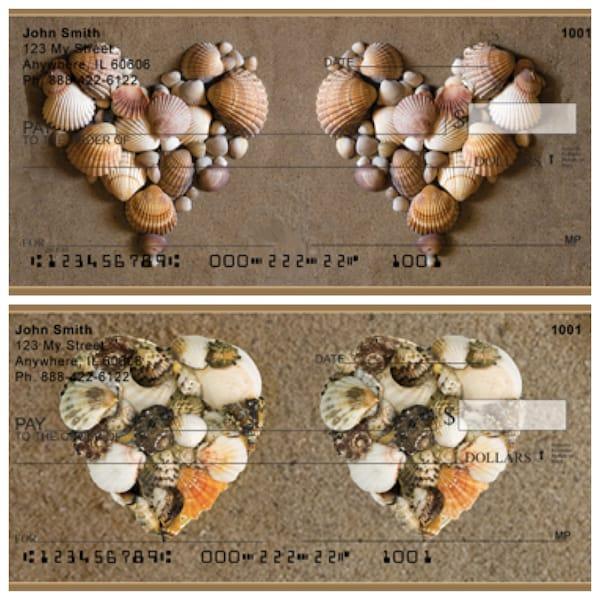 Seashell Hearts Personal Checks